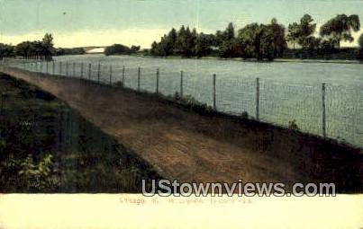 The Lagoon, Lincoln Park - Chicago, Illinois IL Postcard