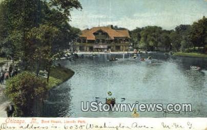 Boat House, Lincoln Park - Chicago, Illinois IL Postcard