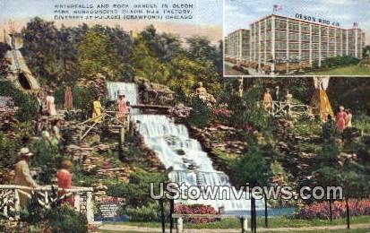 Waterfalls, Olson Rug Co - Chicago, Illinois IL Postcard