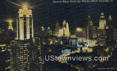 Wacker Drive - Chicago, Illinois IL Postcard