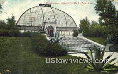 Conservatory, Washington Park - Chicago, Illinois IL Postcard