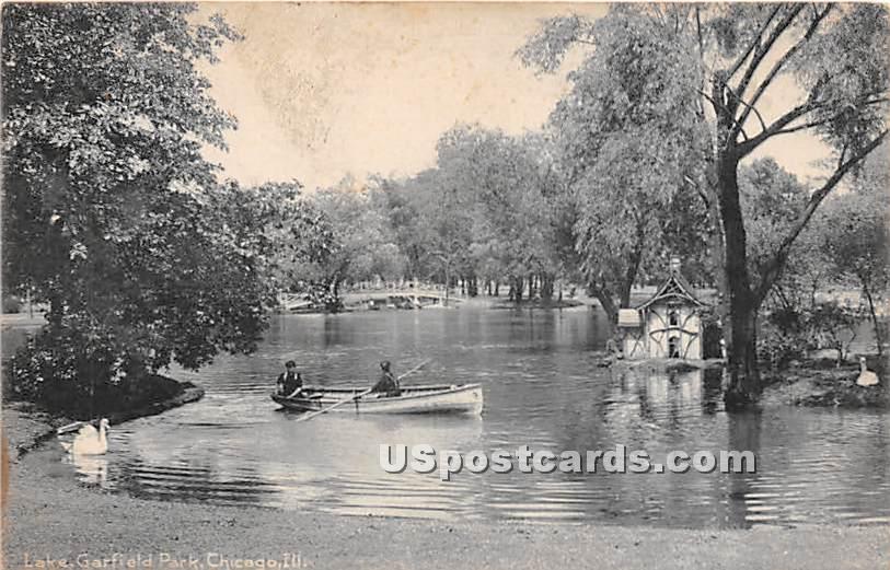 Lake, Garfield Park - Chicago, Illinois IL Postcard