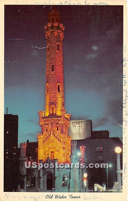 Old Water Tower - Chicago, Illinois IL Postcard