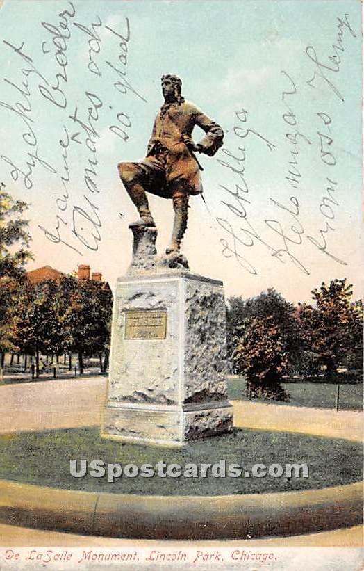 De La Salle Monument, Lincoln Park - Chicago, Illinois IL Postcard