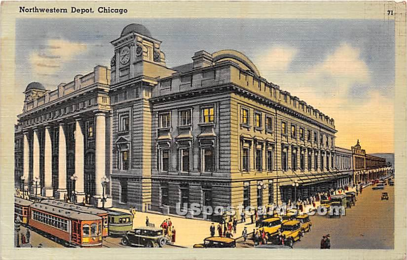 Northwestern Depot - Chicago, Illinois IL Postcard