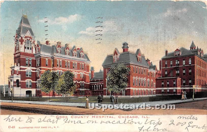 Cook County Hospital - Chicago, Illinois IL Postcard