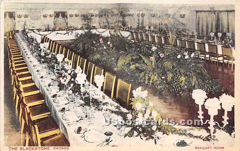 Banquet Room, Blackstone - Chicago, Illinois IL Postcard