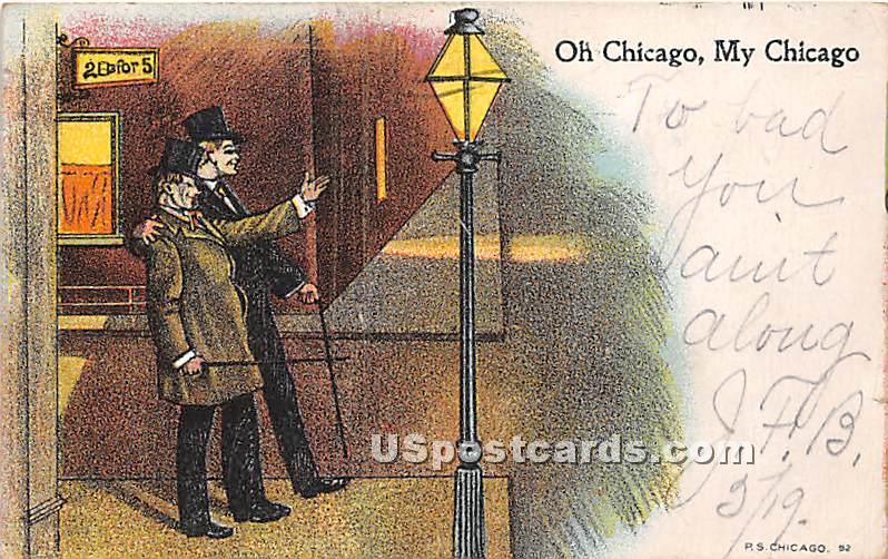 Oh Chicago - Illinois IL Postcard