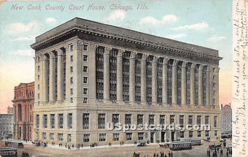 New Cook County Court House - Chicago, Illinois IL Postcard
