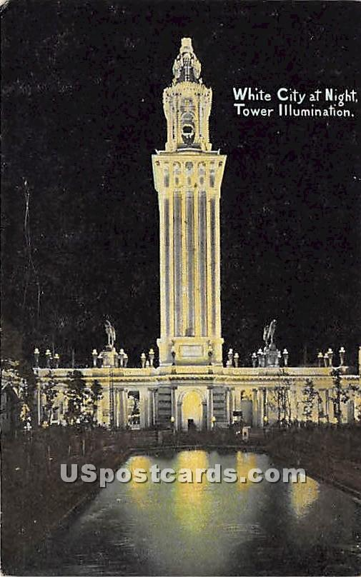 White City, Tower - Chicago, Illinois IL Postcard