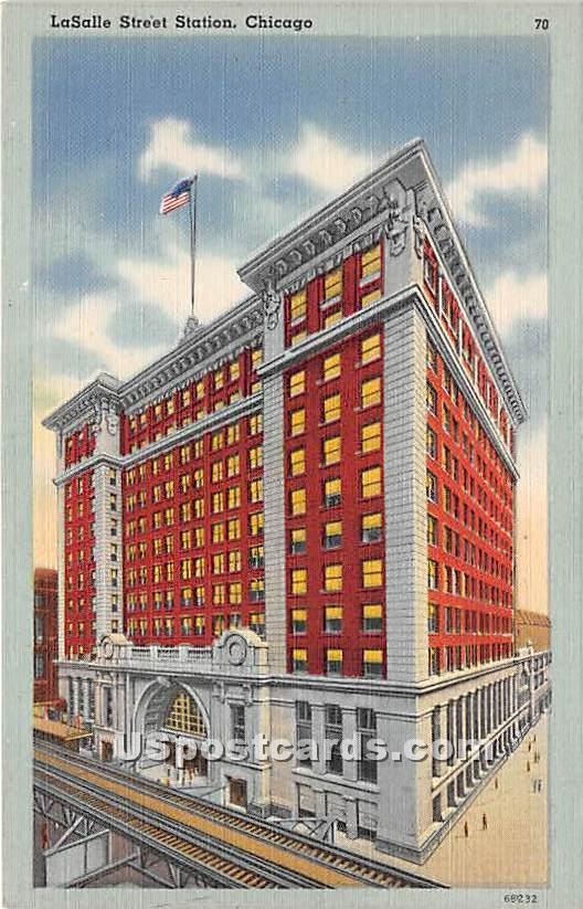 La Salle Street Station - Chicago, Illinois IL Postcard