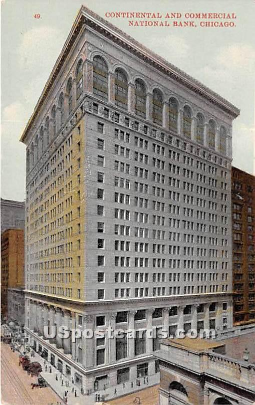 Continental & Commercial National Bank - Chicago, Illinois IL Postcard