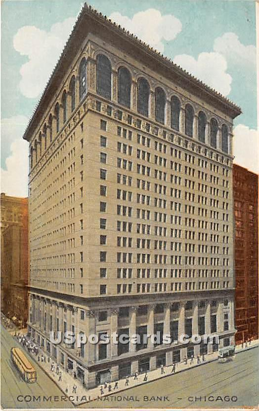 Commercial National Bank - Chicago, Illinois IL Postcard