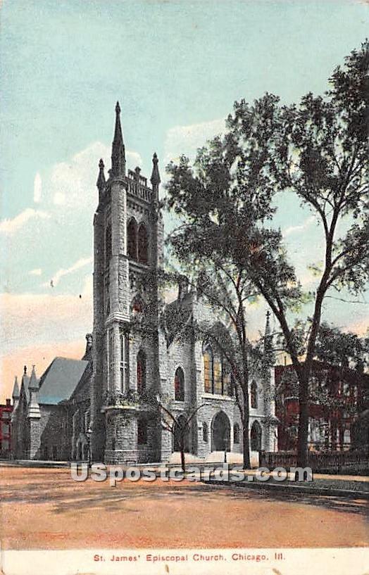 St James' Episcopal Church - Chicago, Illinois IL Postcard