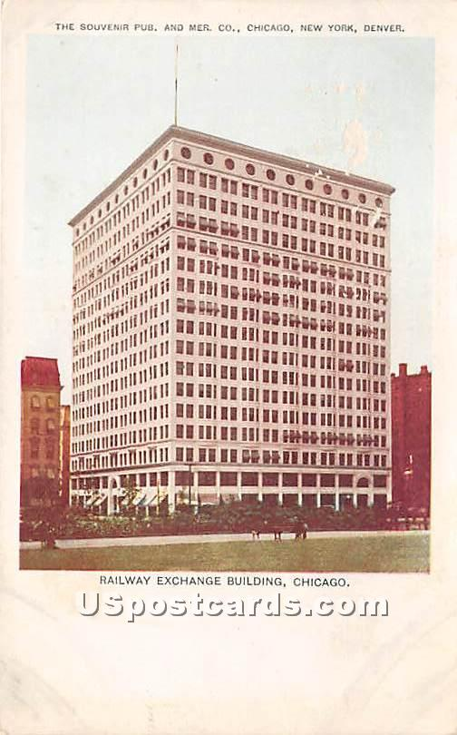 Railway Exchange Building - Chicago, Illinois IL Postcard