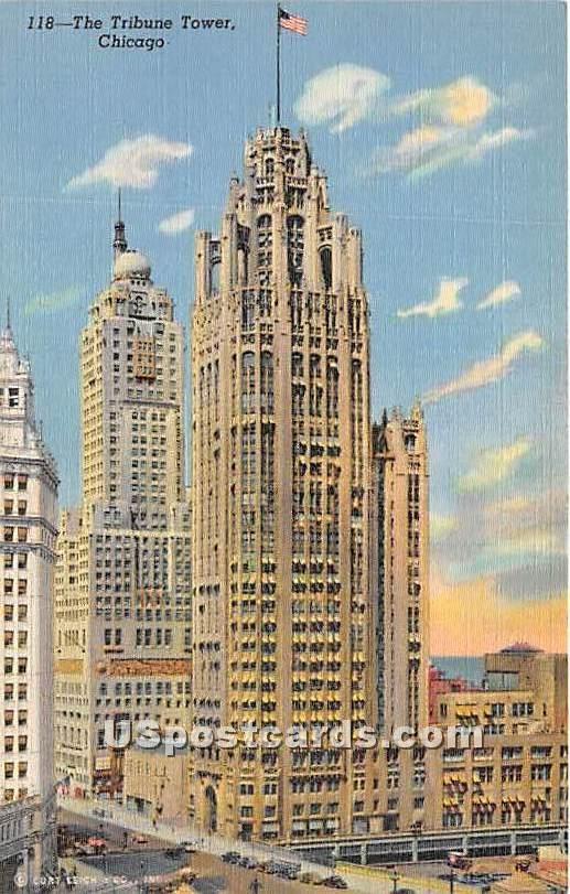 Tribune Tower - Chicago, Illinois IL Postcard