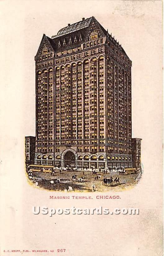 Masonic Temple - Chicago, Illinois IL Postcard