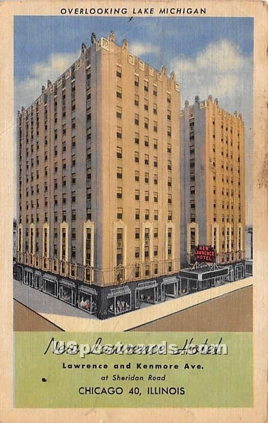 New Lawrence Hotel - Chicago, Illinois IL Postcard