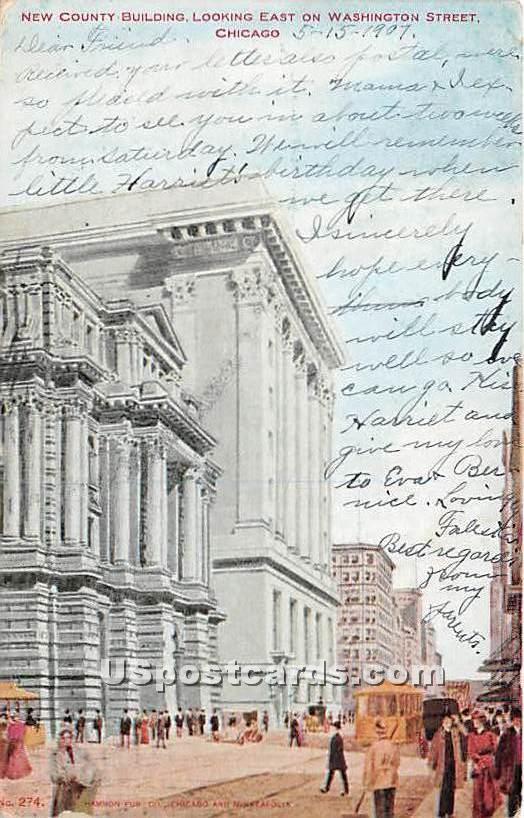 New County Building - Chicago, Illinois IL Postcard
