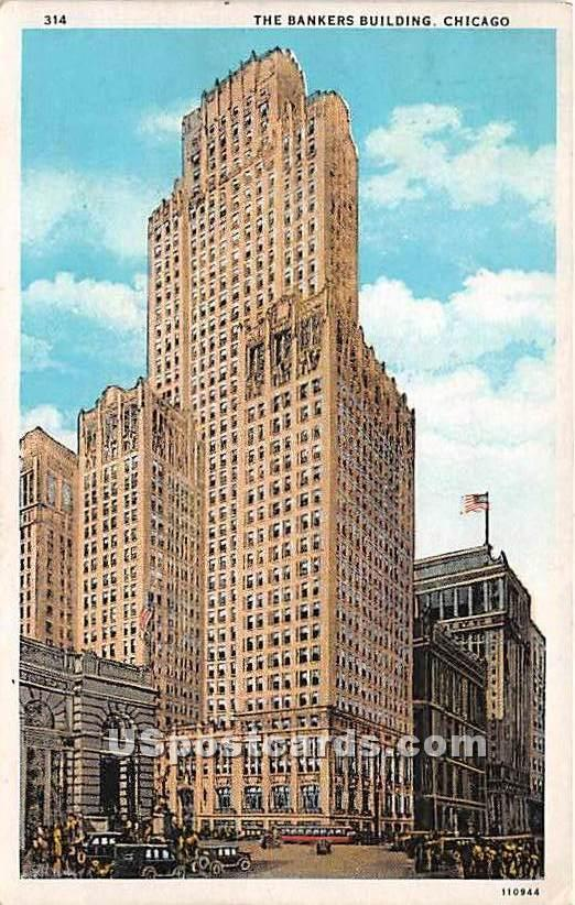 Bankers Building - Chicago, Illinois IL Postcard