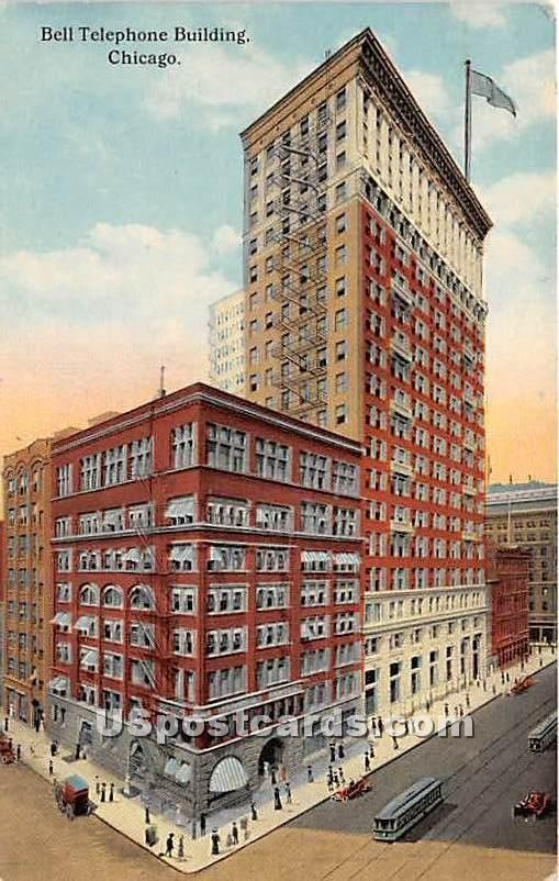 Bell Telephone Building - Chicago, Illinois IL Postcard