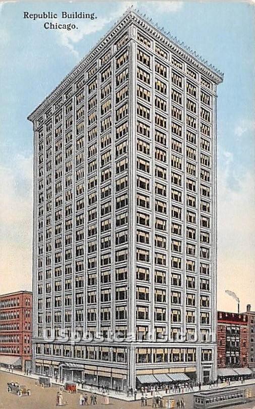 Republic Building - Chicago, Illinois IL Postcard