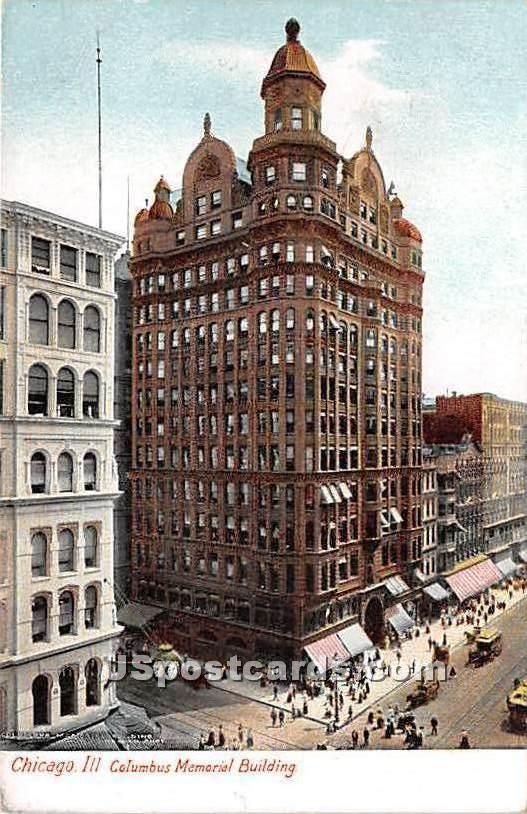 Columbus Memorial Building - Chicago, Illinois IL Postcard
