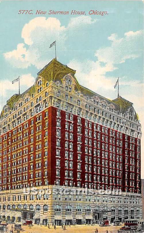 New Sherman House - Chicago, Illinois IL Postcard