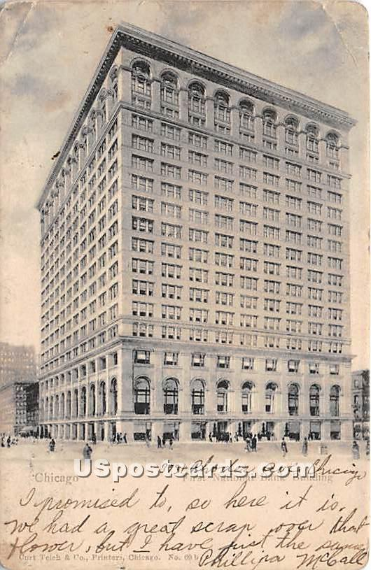 First National Bank Building - Chicago, Illinois IL Postcard