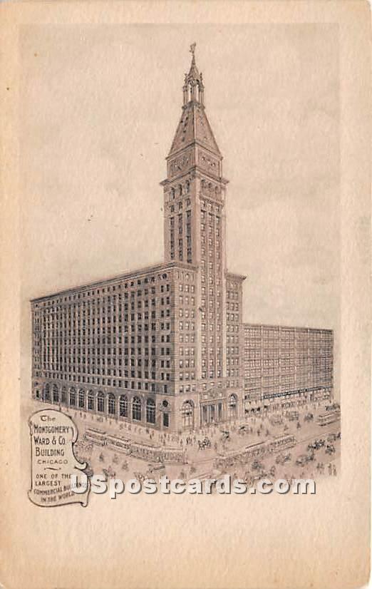 Montgomery Ward & Co Buildings - Chicago, Illinois IL Postcard