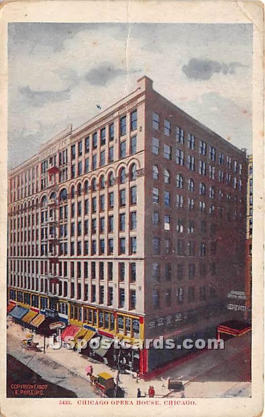 Chicago Opera House - Illinois IL Postcard