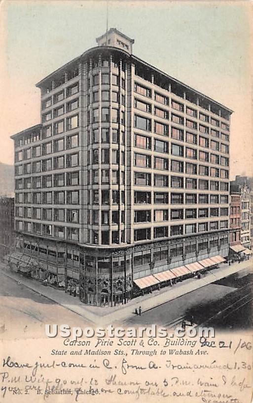 Carson Pirie Scott & Co Building - Chicago, Illinois IL Postcard
