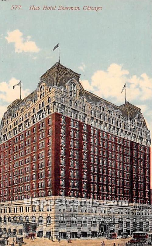 New Hotel Sherman - Chicago, Illinois IL Postcard