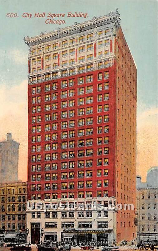 City Hall Square Building - Chicago, Illinois IL Postcard