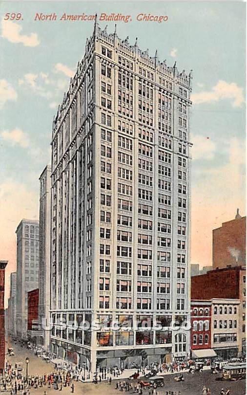 North American Building - Chicago, Illinois IL Postcard