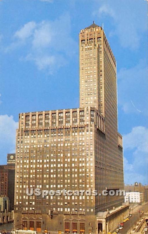 Chicago Civic Opera Building - Illinois IL Postcard