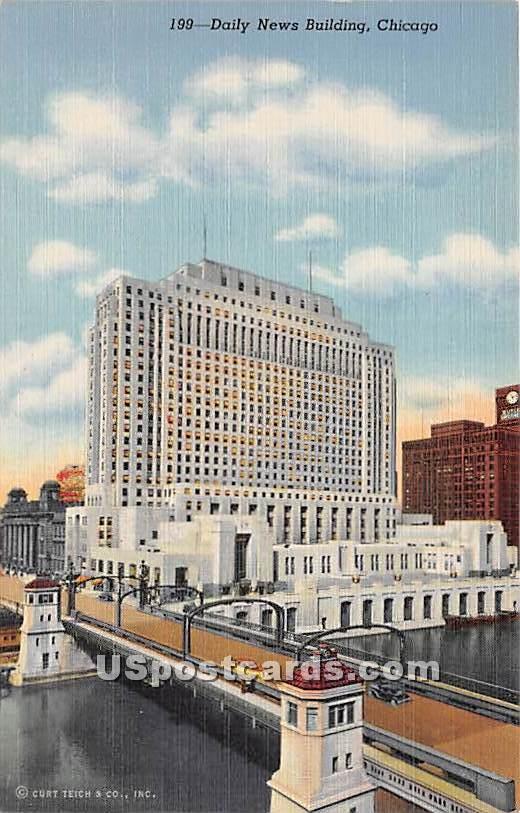 Daily News Building - Chicago, Illinois IL Postcard