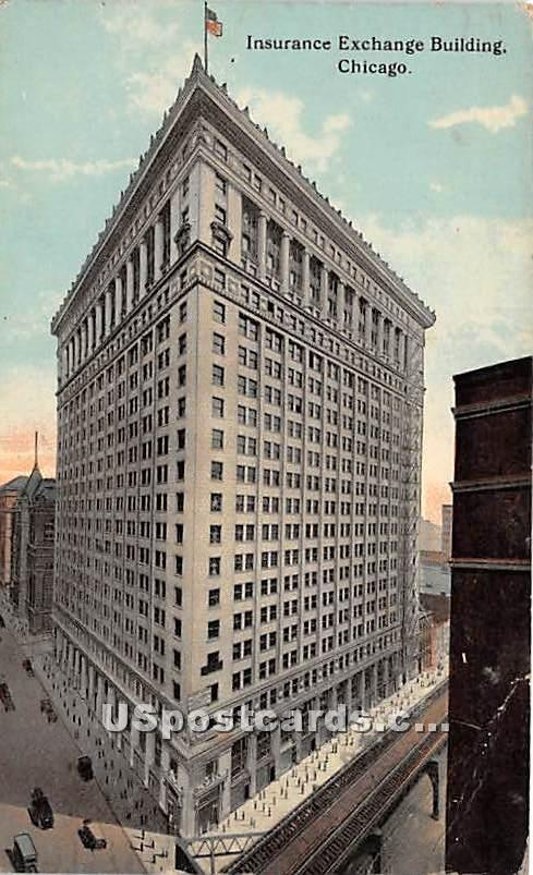 Insurance Exchange Building - Chicago, Illinois IL Postcard