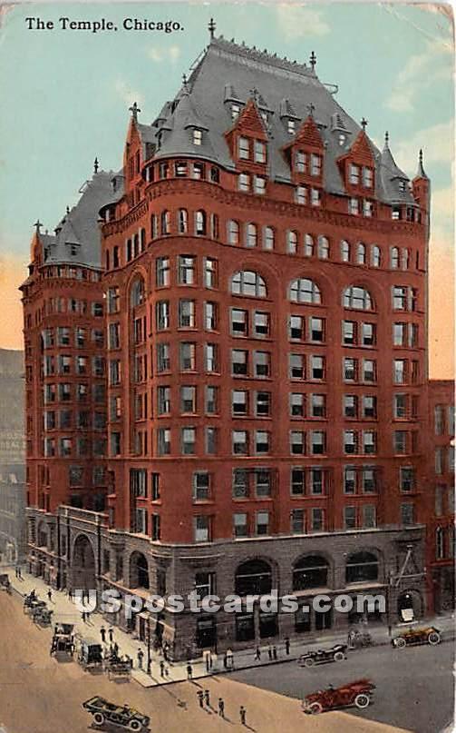 The Temple - Chicago, Illinois IL Postcard
