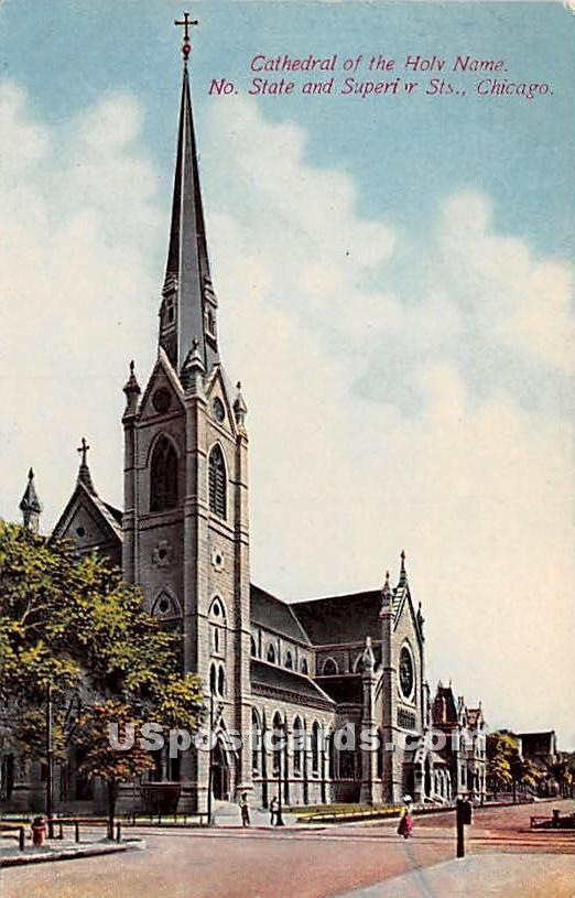 Cathedral of the Holy Name - Chicago, Illinois IL Postcard