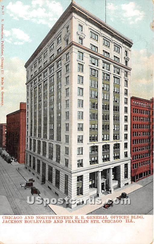 Chicago & Northwestern RR - Illinois IL Postcard