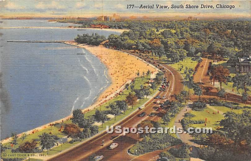 South Shore Drive - Chicago, Illinois IL Postcard