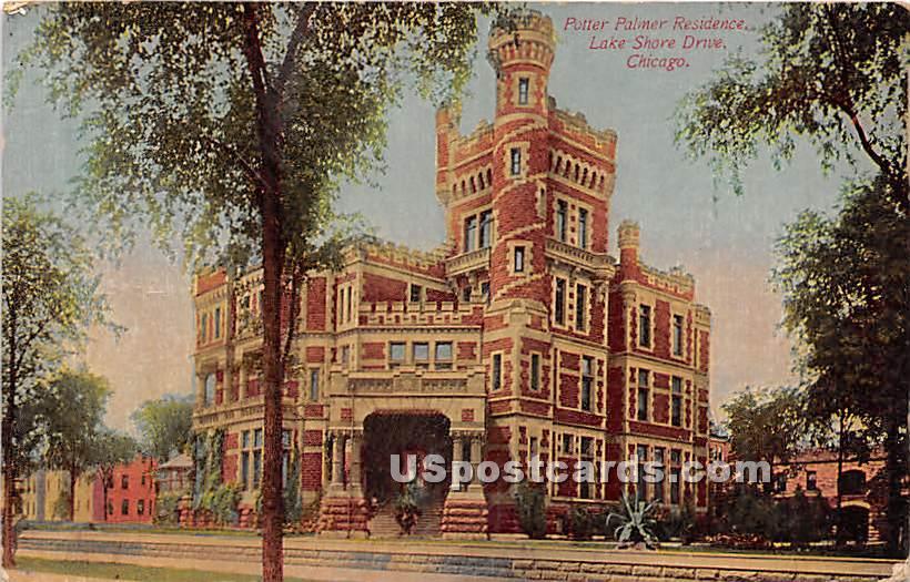 Potter Palmer Residence, Lake Shore Drive - Chicago, Illinois IL Postcard