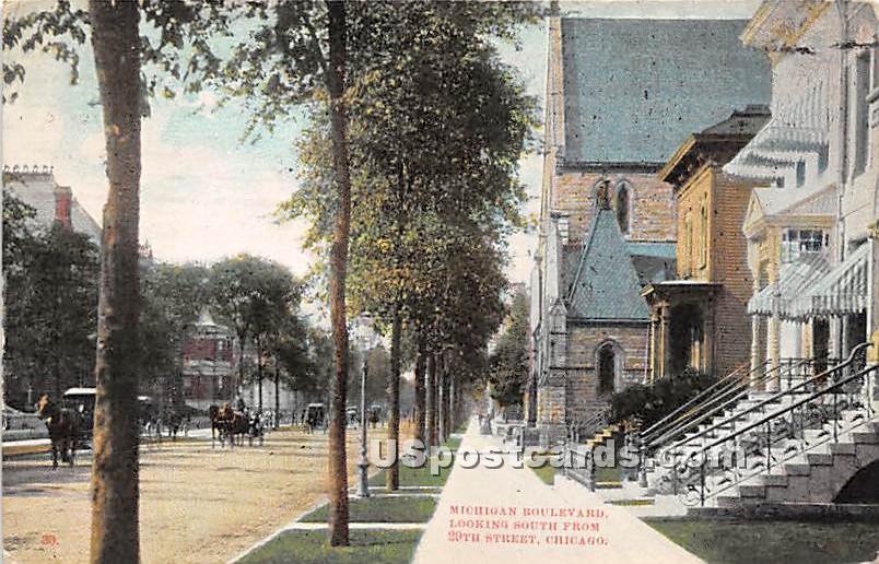 Michigan Boulevard - Chicago, Illinois IL Postcard