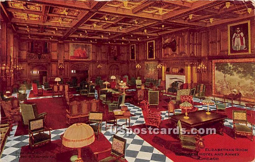 Elizabethan Room - Chicago, Illinois IL Postcard