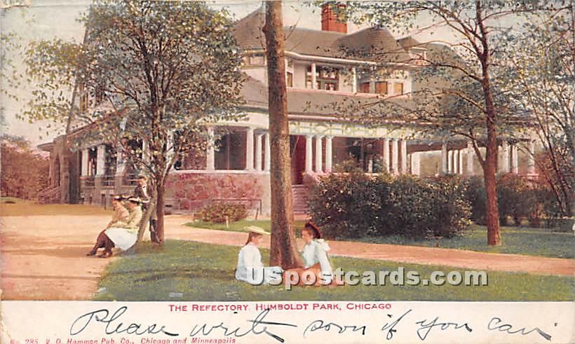 Refectory, Humboldt Park - Chicago, Illinois IL Postcard