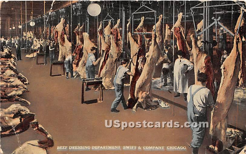 Beef Dressing Department, Swift - Chicago, Illinois IL Postcard