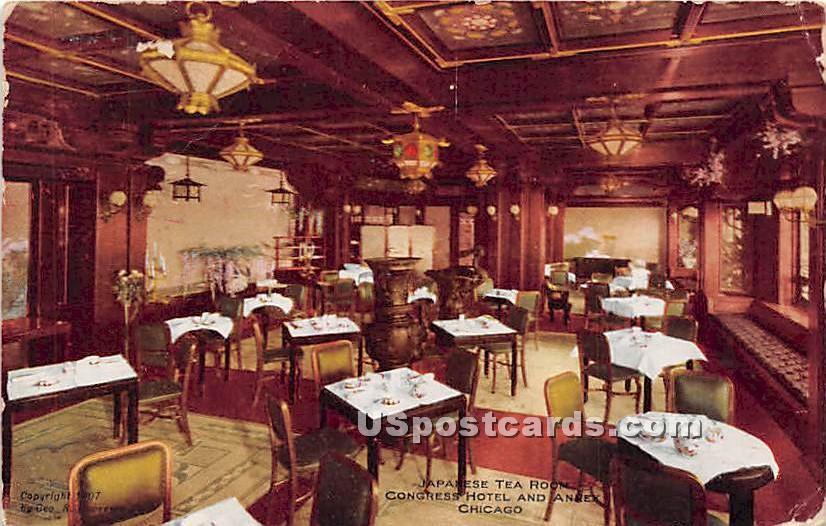 Japanese Tea Room - Chicago, Illinois IL Postcard