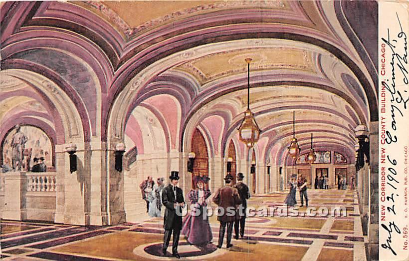 New Corridor New County Building - Chicago, Illinois IL Postcard