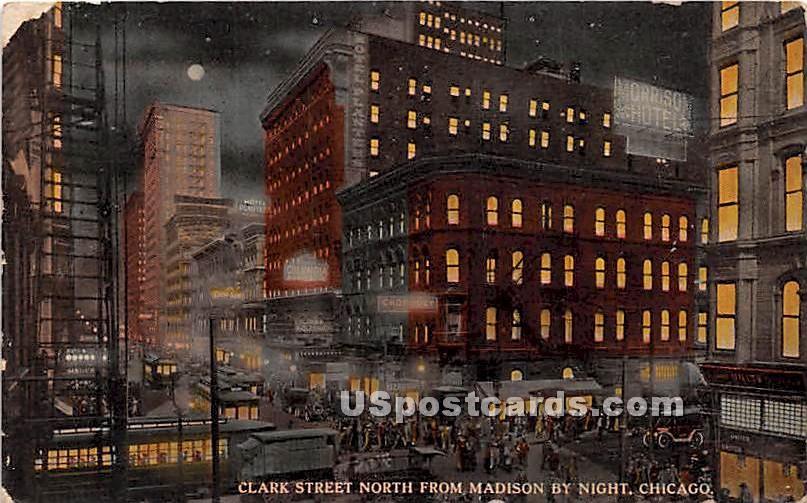 Clark Street - Chicago, Illinois IL Postcard